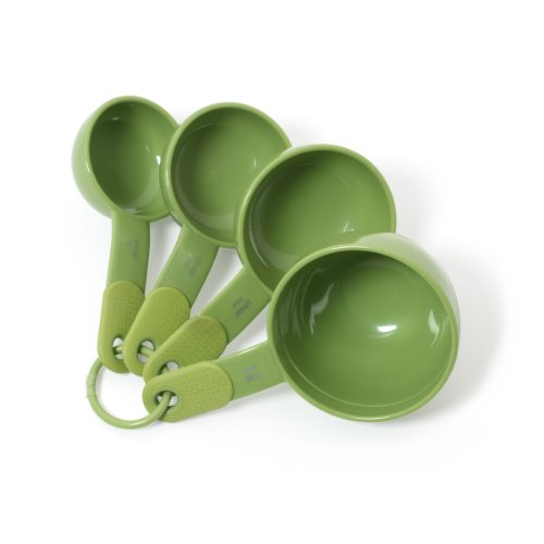 Kitchenaid Classic Plastic Measuring Cups, Green Apple, Set Of 4 front-617078