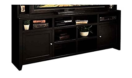 84.06 in. Super TV Cabinet in Mocha Finish