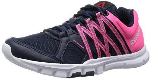 Reebok Yourflex Trainette 8.0 - Zapatillas de deporte para mujer, color multicolor (collegiate navy / solar pink / white), talla 38