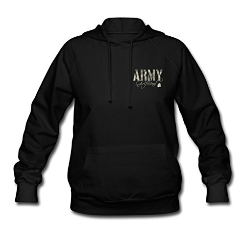 Spreadshirt Women'S Army Girlfriend - Dog Tags Hoodie, Black, Xl