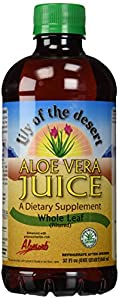 Lily of The Desert Aloe Vera Supplement, Whole Leaf, 32 Fluid Ounce (Pack of 2)