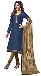Fashionup Women's Cotton Ethnic Dress Material ( Blue )