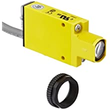 Banner SM2A312CV Mini Beam AC Photoelectric Sensor, Visible Red LED, Convergent Mode, 16mm Range