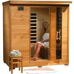4 Person Sauna Heat Wave Hemlock 9 Carbon Infrared Heaters CD Player MP3 New