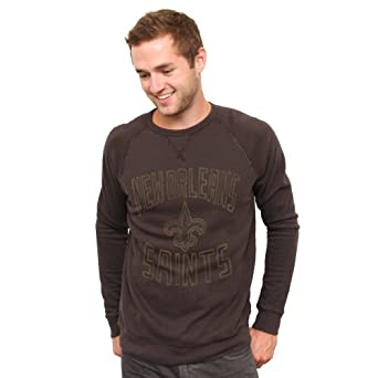 NFL New Orleans Saints Fleece Crew Sweatshirt, Medium by Junk Food