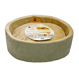 K&H Thermo-Kitty Heated Cat Bed, 20-Inch, Sage
