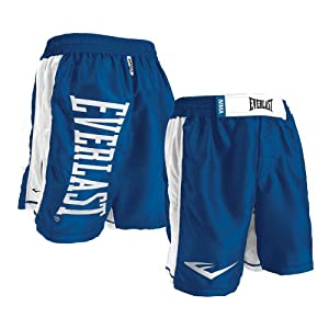 Everlast Omnistrike MMA Fight Boardshorts (Blue-White, 42)