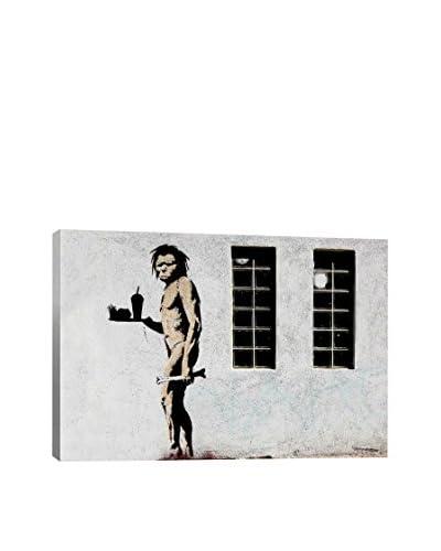 Banksy Caveman Fast Food Canvas Print