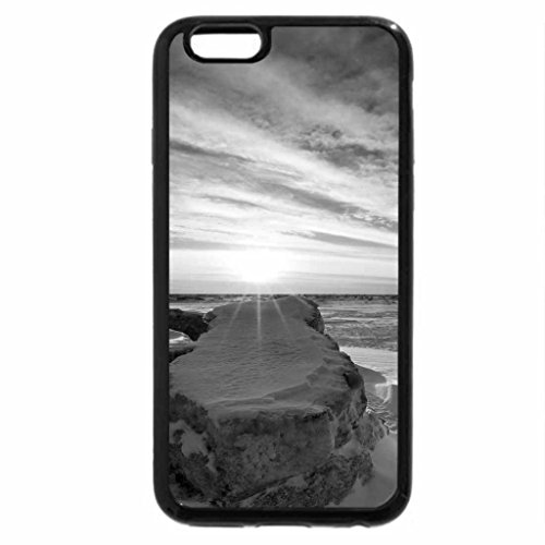 iPhone 6S Case, iPhone 6 Case (Black & White) - Winter-Sunset
