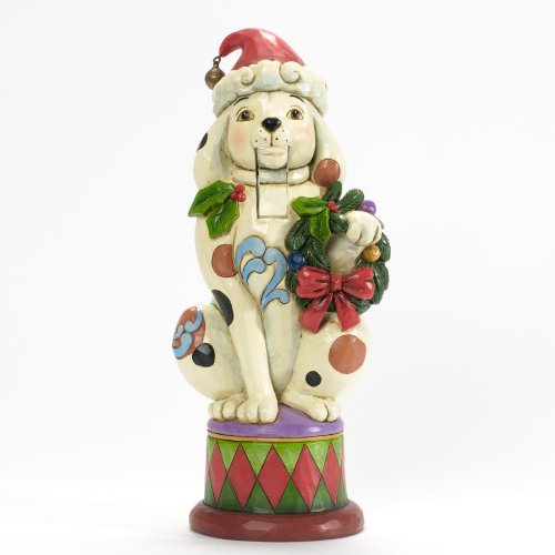 Jim Shore For Enesco Heartwood Creek Christmas Dog Nutcracker Figurine, 10.5-Inch