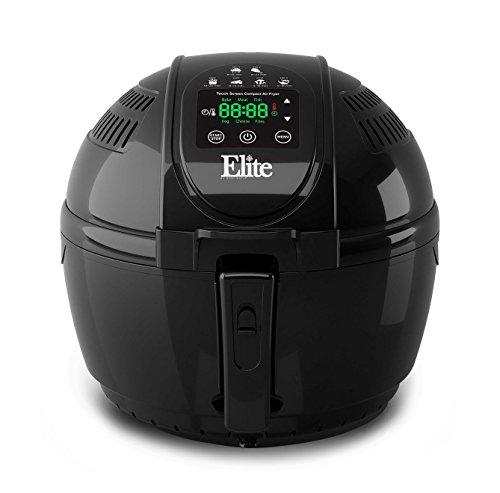 Elite Platinum EAF-1506D Maxi-Matic 3.5 Quart Digital Air Fryer, Black (Hot Air Frier compare prices)