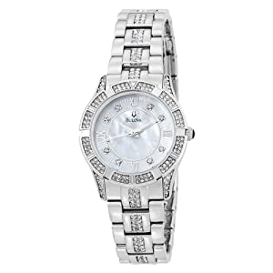 Bulova Women's 96L116 Swarovski Crystal Bracelet Mother of Pearl Dial Watch by Bulova