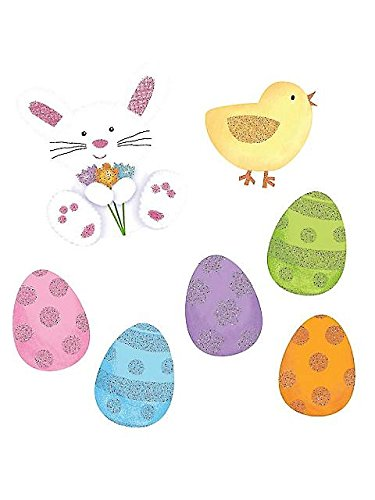 Assorted Mini Glitter Easter Cutouts