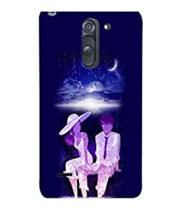 PrintVisa Romantic Love Romantic Couple 3D Hard Polycarbonate Designer Back Case Cover for LG G3 STYLUS