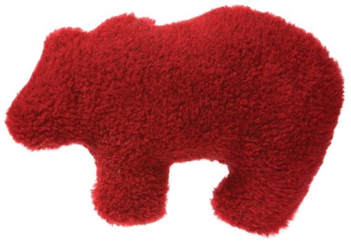 West Paw Design Gallatin Grizzly Squeak Toy for Dogs, Cardinal