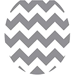 Toilet Tattoos 671297109877 Grey Chevron Toilet Lid Cover Size Round