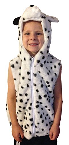 Fashion Vest with Animal Hoodie for Kids - Dress Up Costume - Pretend Play (Small, Dalmation) (Dalmation Halloween Costumes Kids)