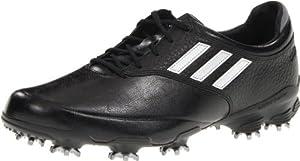 adidas Men's Adizero Tour Golf Shoe,Black/Running White/Black,11.5 M US