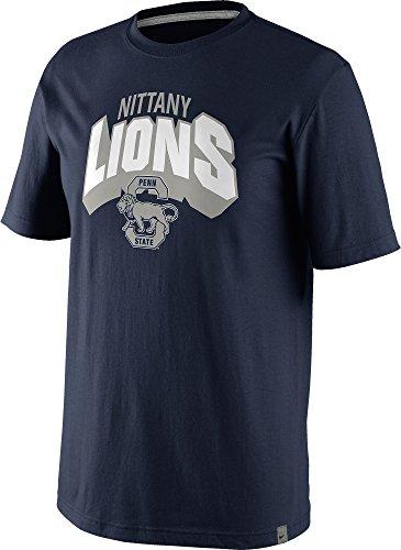 Nike Penn State Nittany Lions Men's Vault Tri-Blend T-Shirt (Navy Blue, 2XL)