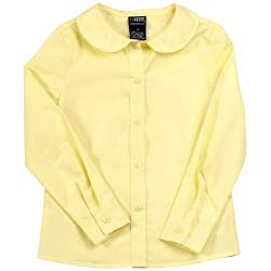 French Toast S/S Peter Pan Fitted Shirt (Sizes 7 - 20) - yellow, 20