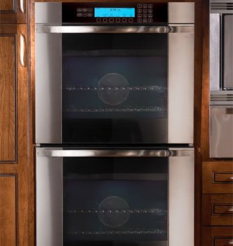 """Dacor Mov227S - Millennia Discovery 27""""Double Wall Oven, In Stainless Steel With Vertical Black Glass"""