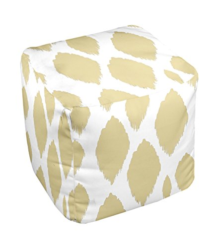 E by design FG-N15-Yellow-18 Geometric Pouf