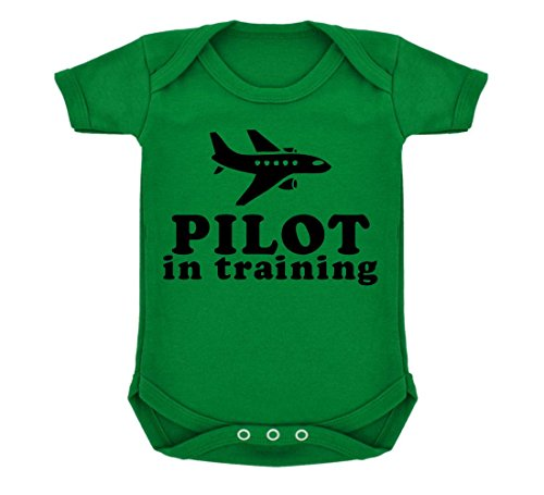 pilot-in-training-design-baby-body-smaragd-grun-mit-schwarz-print-gr-68-grun-grun