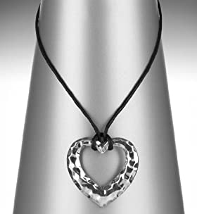 Hammered Heart Pendant Necklace