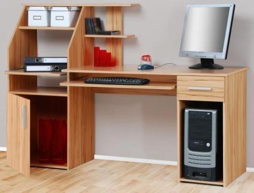 5-5-1504: made in BRD – schöner Bürotisch – Kernbuche dekor – Computertisch – Schreibtisch – PC-Tisch online kaufen