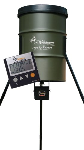 Wildgame Innovations 55 Gallon Barrell Digital Feeder front-864449