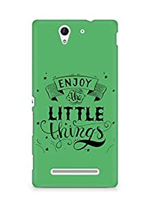 AMEZ enjoy the little things 2 Back Cover For Sony Xperia C3 D2502