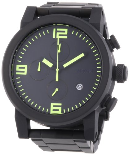 Nixon Men's Quartz Watch Ride SS A3471256-00 with Metal Strap