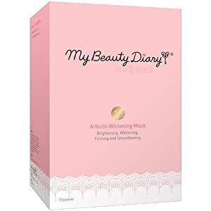 My Beauty Diary Whitening Mask, Arbutin, 10 Count