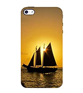 99Sublimation Sun and Ship in See 3D Hard Polycarbonate Back Case Cover for Apple iPhone SE