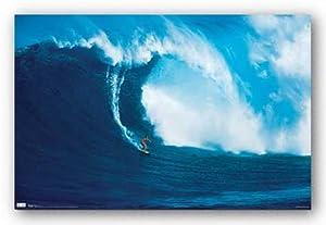 (22x34) Big Wave Surfer Art Print Poster