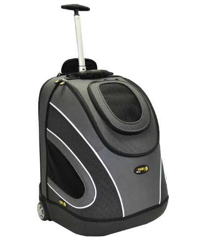 Wacky Paws Eva Pet Mobile Carrier, Small, Black front-17867