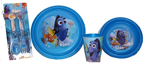 Disney findet Dory Set per colazione con tazza, ciotola, piatto e posate