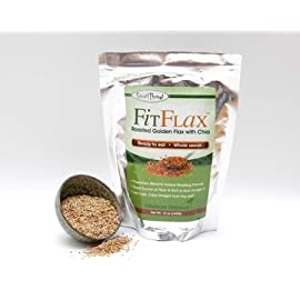 FitFlax - Delicious Blend Of Roasted Golden Flax Seed with Chia Seeds. Promotes Weight Loss, Energy & Wellness. 12 Oz. Bag.