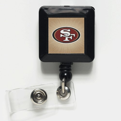 "San Francisco 49ers Official NFL 1""x1"" Retractable Badge Holder Keychain by Wincraft at Amazon.com"