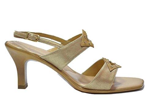 Melluso Sandali scarpe donna platino eleganti R5597 38
