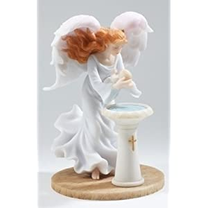 "Baptism Angel - Hannah - Stone Resin - 7.5"" High"