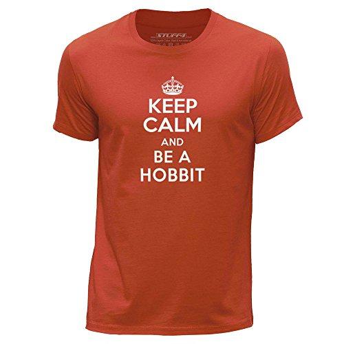 STUFF4-HombresXX-Grande-XXLNaranjaCuello-redondo-de-la-camisetaKeep-Calm-Be-Hobbit