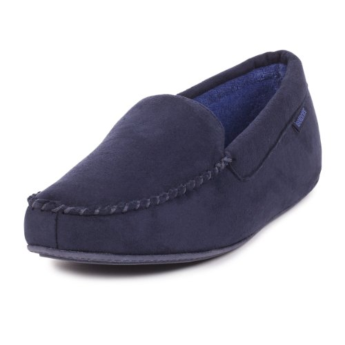isotoner-mens-suedette-pillowstep-moccasin-slippers-10-11-uk-large-navy