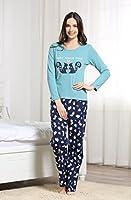 Somewell Women's Squirrel Cotton Two-piece Pajama Sleepwear Set