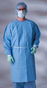 AAMI Level 3 Isolation Gowns,Blue,Regular Large, Manufacturer: MEDLINE, Manufacturer... by Medline