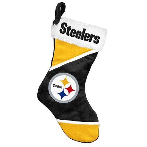 2014 NFL Football Team Logo Colorblock Holiday Stocking (Pittsburgh Steelers) at SteelerMania