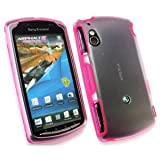 Sony Ericsson XPERIA PLAYケース Gel Skin case (docomo SO-01D) 【Pink(ピンク)】+ 液晶保護フィルム1枚