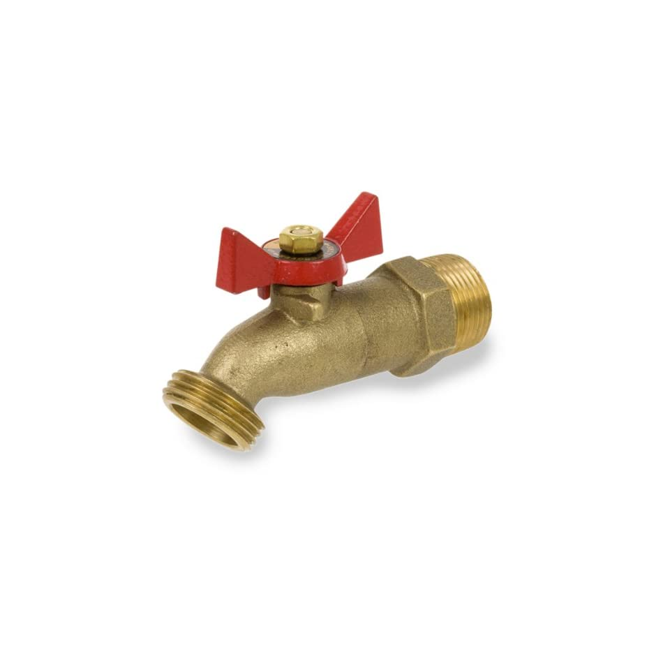 Smith Cooper International 361 Series Brass No Kink Hose Bibb, Tee Handle, 1/2 NPT Male, Non Potable Water Use Only