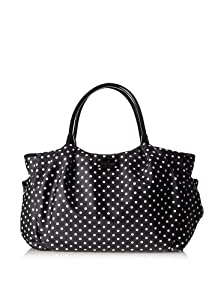 Kate Spade Black Spot Nylon Stevie Baby Bag by Kate Spade by Kate Spade