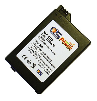Sony PSP S110 Slim Replacement Battery Pack by CS Power - 1200 mAh